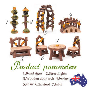 DIY-Wooden-Table-Bridge-Dollhouse-Kit-Miniature-Fairy-Garden-Ornament-Decor-Pot