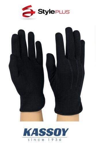 Box of Dozen Size S NIB Deluxe Black Military Cotton Dress Parade Gloves