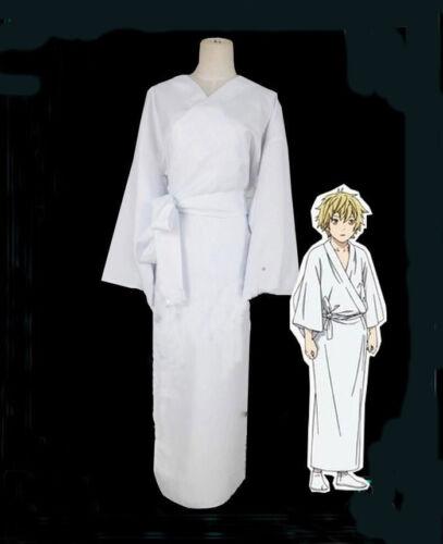 Noragami Yukine Universal Summer Matsuri Men White Kimono Yukata Cosplay Costume
