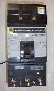 ka361501021 ka36150 shunt 3 pole 150 amp 600v circuit breaker ebayreconditioned square d ka361501021 shut trip circuit breaker 1 yearimage is loading reconditioned square d ka361501021