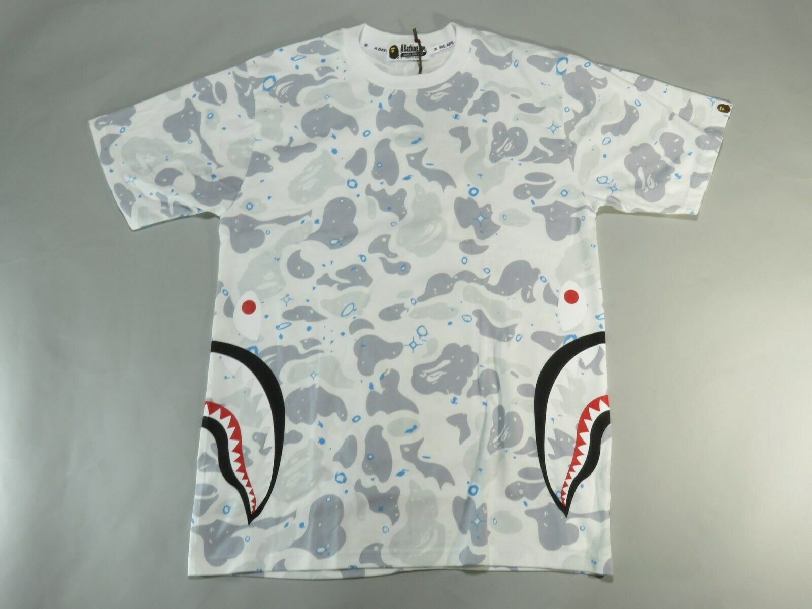 20896 bape space camo side shark Weiß tee XXL