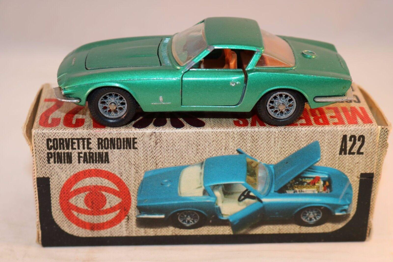 Mebetoys A22 Corvette Rondine Pinin Farina Green near mint in box
