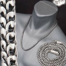 """83g 24"""" ARTISAN DRAGON SNAKE SCALE MENS NECKLACE CHAIN 925 STERLING SILVER"""