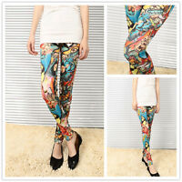 Special Sale $6.99 Impressive Womens Painting Printed Multi Color Leggings