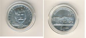 Italie 5 Eur 2007 200. Anniversaire de Garibaldi Giuseppe Argent S (M00350)