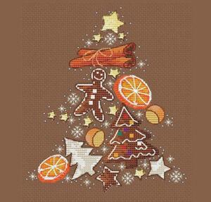 Holidays-Cross-Stitch-Pattern-Gingerbread-Xmas-Tree-Home-Art-Decor