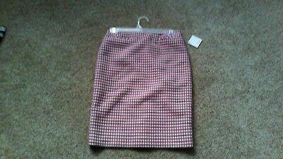 NEW NWT Nordstrom Halogen Pinnk Tweed Pencil Straight Skirt Sz 0P