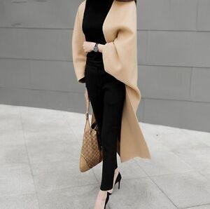 Farver Casual Koreansk Shawl Long 3 Cloak Coat Kvinder Jacket Uld Loose Vogue Blend FpqS76q