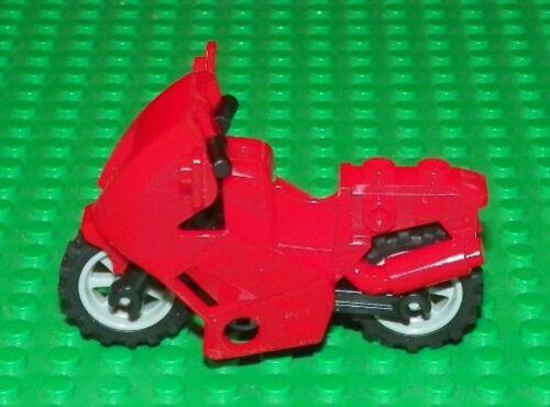 LEGO Red // Black Frame Motorcycle Fairing Type Minifig Vehicle