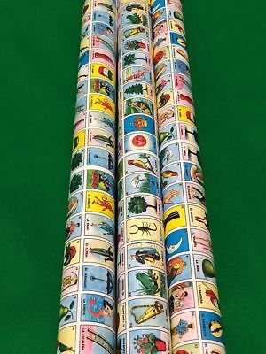 gift wrap New Don Clement MINI Mexican Loteria Bingo 1 Paper Roll for Boards