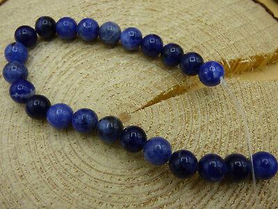 Sodalita 12mm azul Edelstein perlas hebras bricolaje joyas Heil piedra