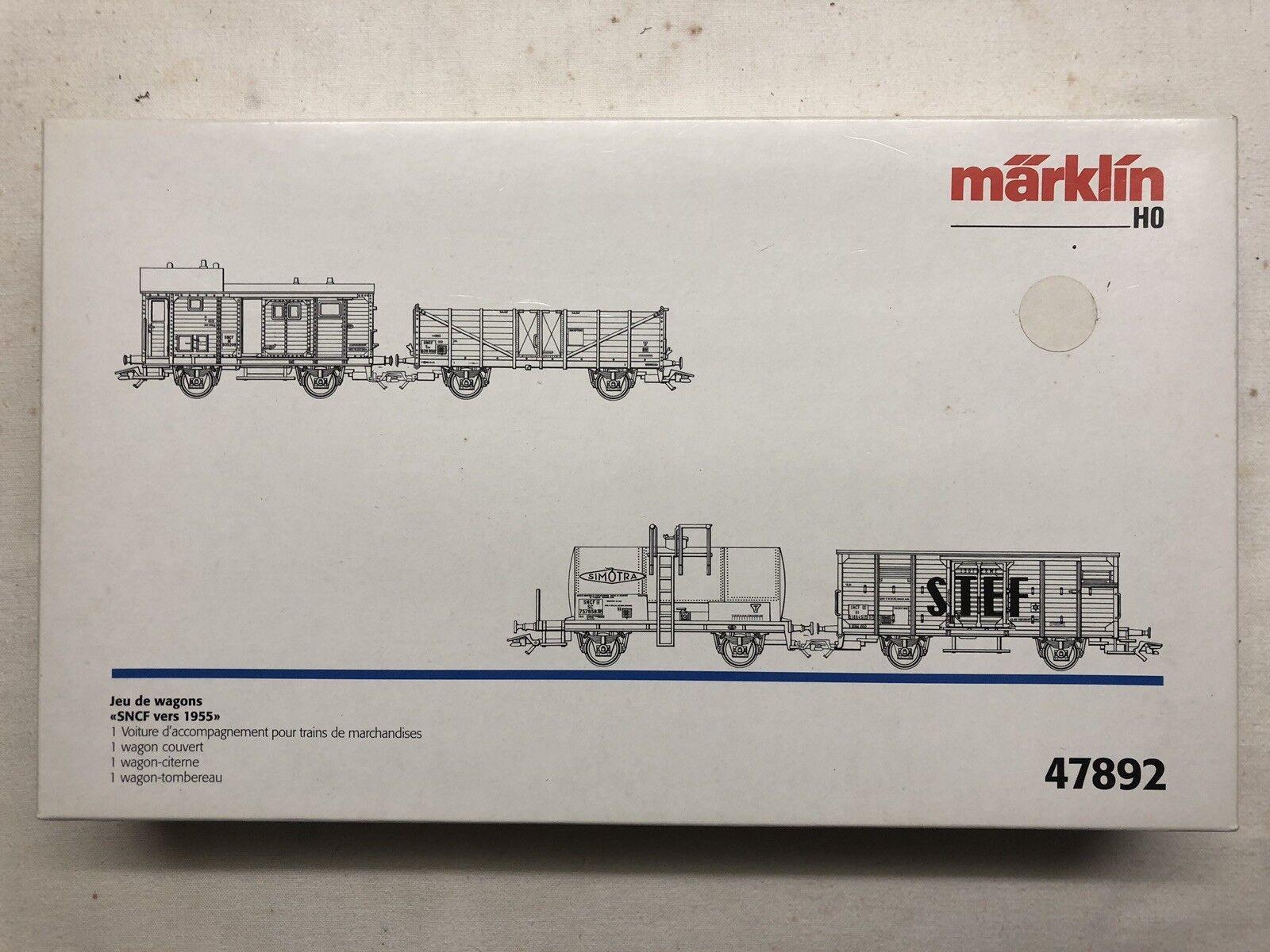 Märklin 47892 Wagen-Set Wagen-Set Wagen-Set  Güterwagen der SNCF, Fünfziger Jahre   | Verkauf  3ba700