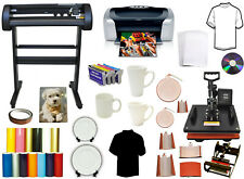 New Listing8in1 Combo Heat Press28 500g Laser Vinyl Cutter Plotterprinter Refils Startup
