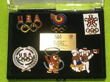 US Olympic Committee Mascots Calgary 1988 Olympic Games Commemorative 6 Pin Set