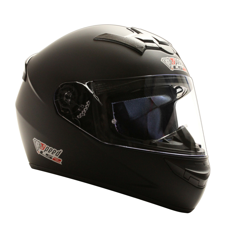 LS2 FF352 Integral Rookie - Casco - Negro Mate - Casco de Moto - Xxs - XXL
