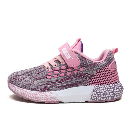 Boys Girls Sneakers Kids Sports Casual Running Breathable Mesh Athletic Shoes