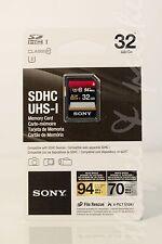 "Sony 32GB SDHC U3 Class 10 UHS-1 94MB/s SF32UX2/TQ Memory Card ""NEW"""