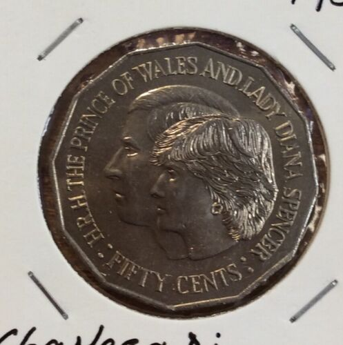 Charles and di 1981 50 cent unc coin