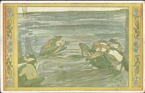 Dutch-Nursery-Rhyme-Frog-Fantasy-Rie-Cramer-c1915-Postcard