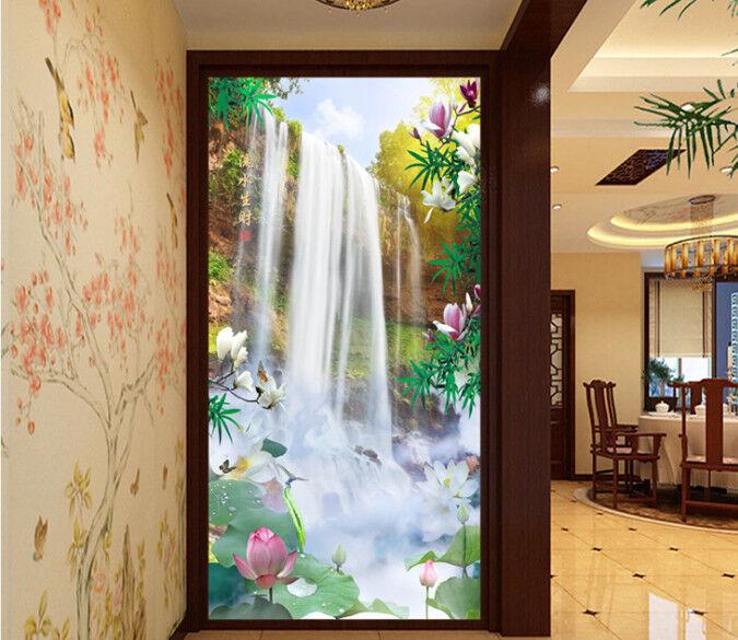 3D Klippen Wasserfall 95 95 95 Tapete Wandgemälde Tapete Tapeten Bild Familie DE | Sonderaktionen zum Jahresende  d69abc