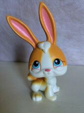 Littlest Pet Shop #75 Long Ear Orange White Bunny Rabbit w Blue Eyes USA seller