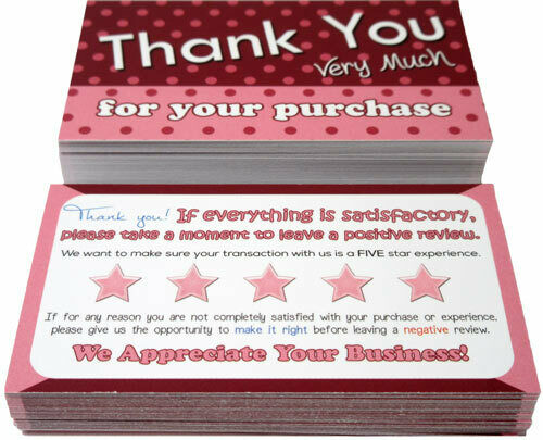 Choose Design 50 Thank You Cards For  Amazon Poshmark Mercari etsy Sellers