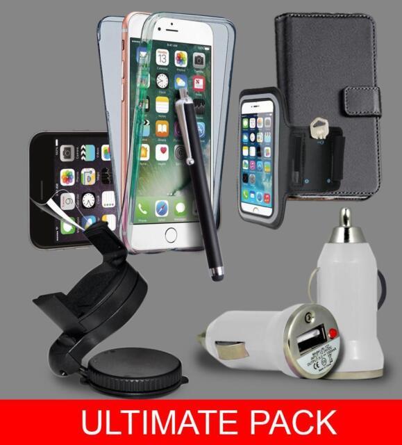 Último Paquete de accesorios kit para iPhone 8 - Funda & Soporte Cargador Kit