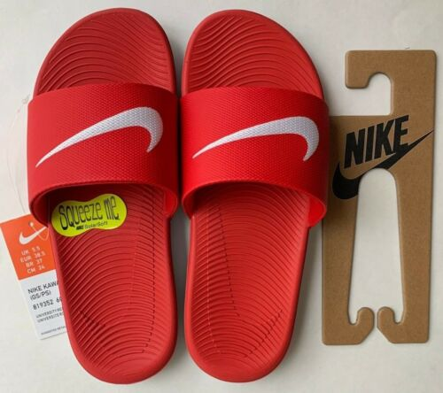 Color Red//White Nike Kawa kids Slide Sandals Style 819352600