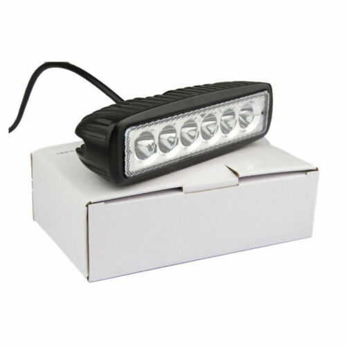 10PCS 6INCH 18W LED WORK LIGHT BAR SPOT  DRIVING LIGHTS OFFROAD FOG 4WD BOAT UTE
