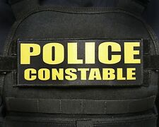 """3x8/"""" CONSTABLE K9 UNIT White Black Tactical Hook Plate Carrier Patch SWAT Police"""