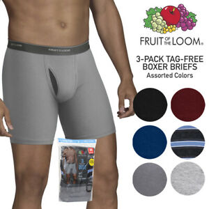 Fruit of The Loom Men's 3 Pack Dual Defense No Pinch Waistband Boxer Briefs