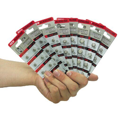 Knopfzelle AG12, 1,5 V, 11,9x4,2 mm, 10 Stück, Uhr Batterie, 301, SR 43 W