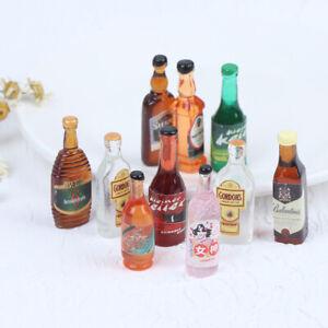 10Pcs 1:12 Dollhouse Miniature Drinks Wine Model Doll Kitchen Food Accessories