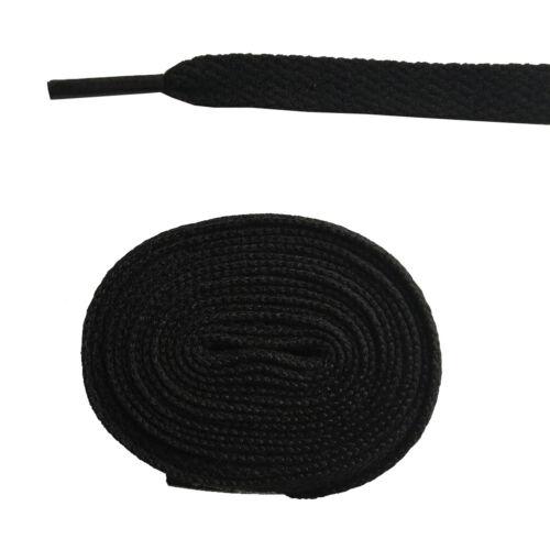 1cm Wide Kids Adult Flat Shoelaces Shoe Lace Shoestrings Cord f Sneaker 9 Length