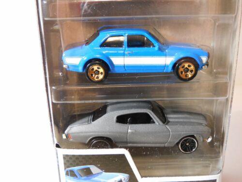 Hot Wheels Pack 5 Fast /& Furious Escort Chevelle Corvette Impala Gran Torino