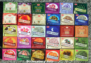 Hem-Assorted-Incense-Cone-Sampler-Mixed-VARIETY-SET-20-Boxes-200-Cones-Bulk