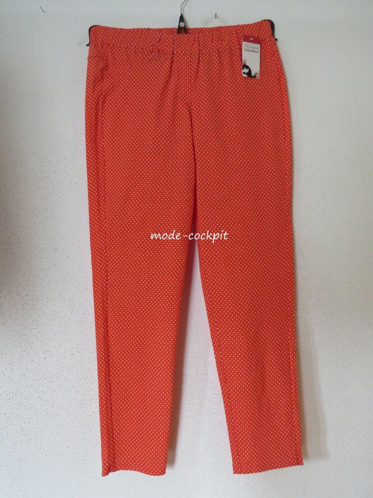 Magna Great Stretch Slip Hose Layerot Look New Coral Polka-Dot 52-54