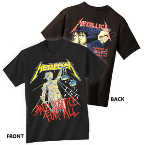 METALLICA-T-Shirt-Justice-For-All-New-Authentic-Rock-Metal-Tee-S-3XL
