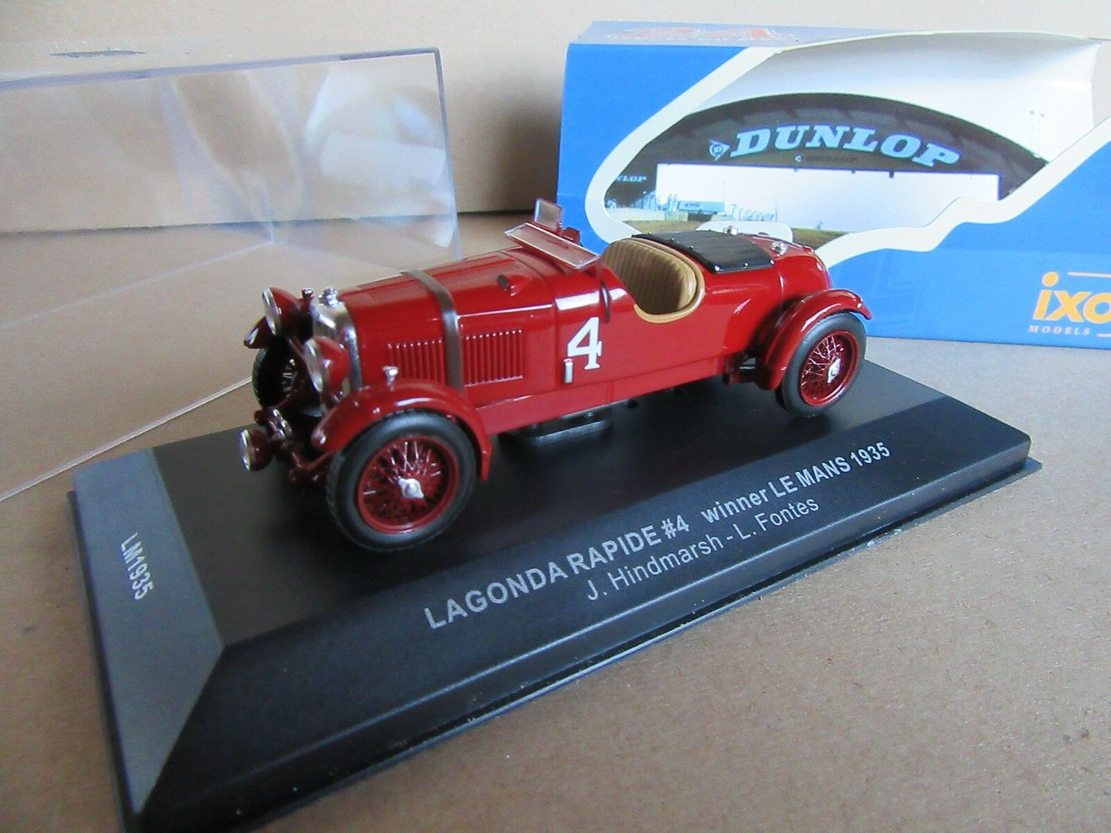 360F Ixo Models LM1935 Lagonda Rapide     4 Winner Le Mans 1935 Fontes 1 43 ae9ff7