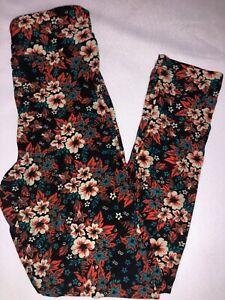 BoxAA LuLaRoe Kids Leggings S//M New Purple W// Purple Triangle Pink Scribbles