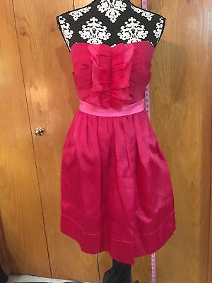 Phoebe Couture Dress, Rose/Pink, size 8, RN92432, Silk, Lined, EUC!