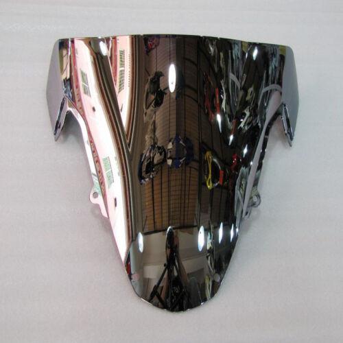 Windshield Silver Screen Double bubble For 2003-2004 Suzuki GSX-R GSXR 1000 K3
