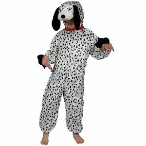 Childrens Black /& White Dalmation Puppy Dog Fancy Dress Up Party Costume Outfit