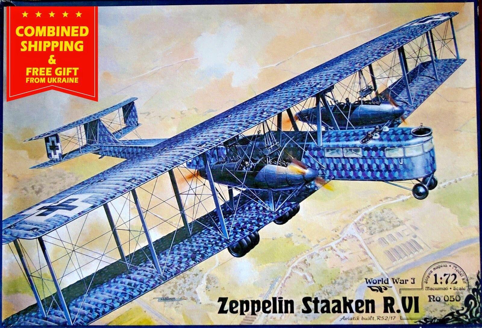 ZEPPELIN STAAKEN R.VI (AVIATIK, 52 17) German Fighter-biplane 1 72 RODEN 050