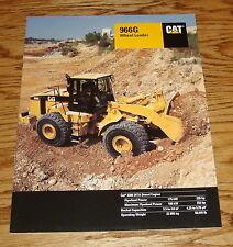 Original 1999 Caterpillar 966G Wheel Loader Sales Brochure 99 Cat