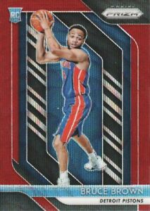 2018-19-Panini-Prizm-Basketball-Ruby-Wave-Parallel-132-Bruce-Brown-Pistons