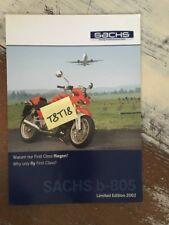 Sachs B-805 2002 B 805 prospectus moto brochure dépliant publicité
