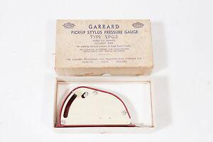 Garrard Type SPG2 Pickup Stylus Pressure Gauge with Owner Original Genuine