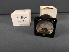 Vtg Nos Micronta Panel Meter No 94l 185 300volts Ac New Old Stock Mini 1 58