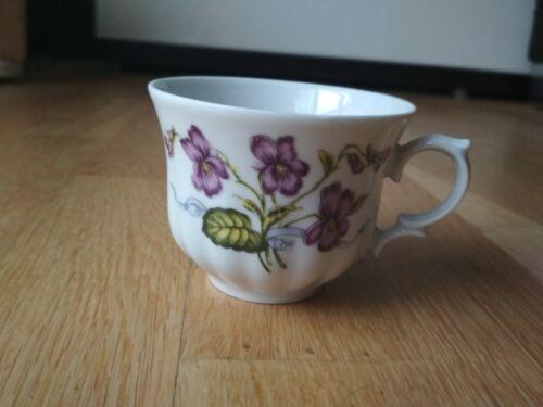 Kaffeetasse von Wunsiedel Retsch Bavaria Germany Veilchen 5,5 cm hoch